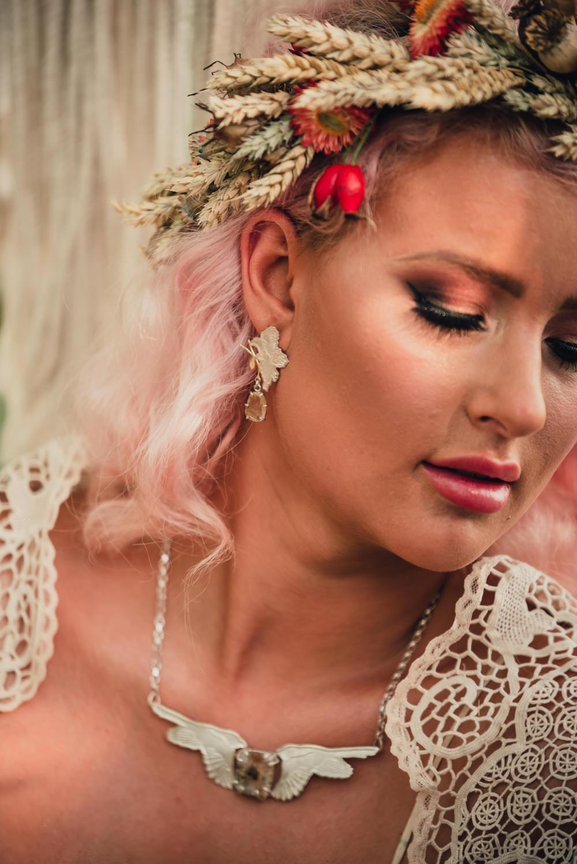 Bride Bridal Jewellery Boho Wedding Ideas Roshni Photography