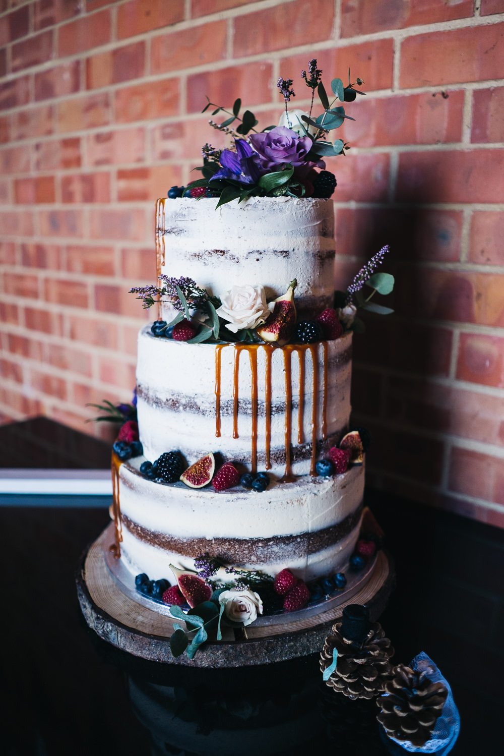 Semi Naked Cake Drip Flowers Castle View Wedding Sally T Photography