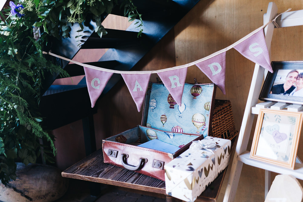 Card Suitcase Bunting Castle View Wedding Sally T Photography
