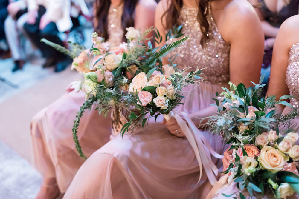 Bouquet Flowers Bridesmaid Doxford Barns Wedding Lara Frost Photography
