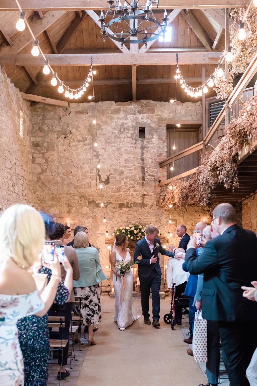 Lights Lighting Festoon Lights Ceremony Doxford Barns Wedding Lara Frost Photography