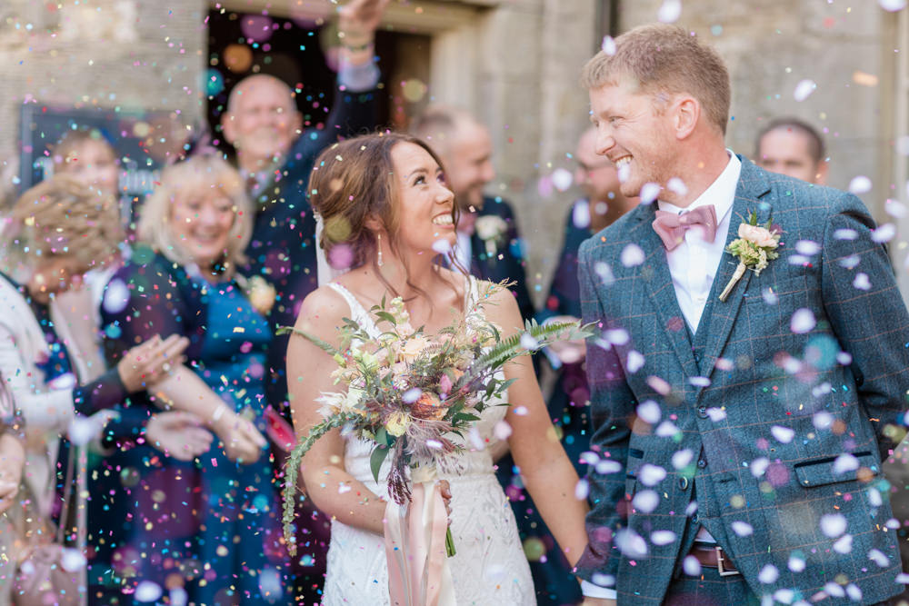 Doxford Barns Wedding Lara Frost Photography Confetti Throw