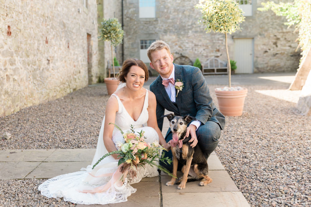 Dog Pet Doxford Barns Wedding Lara Frost Photography