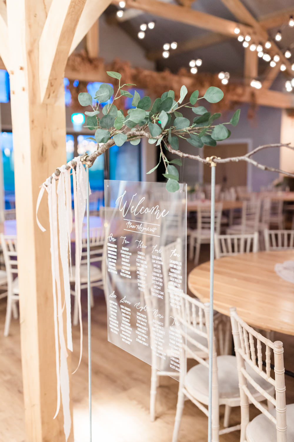 Table Plan Seating Chart Clear Acrylic Perspex Calligraphy Doxford Barns Wedding Lara Frost Photography
