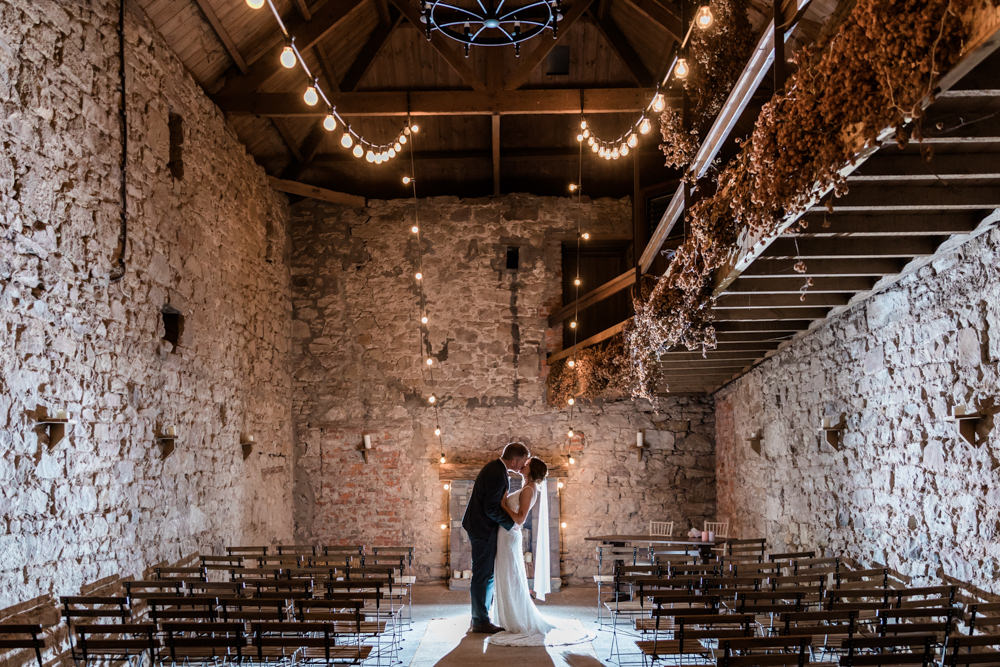 Lights Lighting Festoon Lights Doxford Barns Wedding Lara Frost Photography