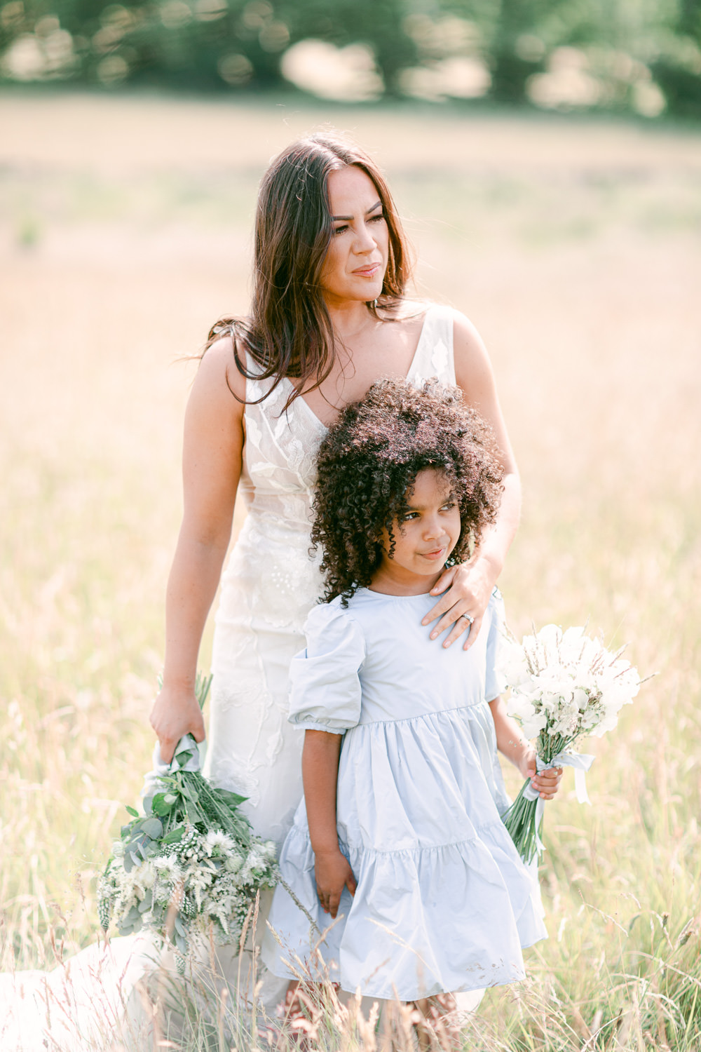 Flower Girl Blue Dress Family Elopement Ideas Sophie May Photo