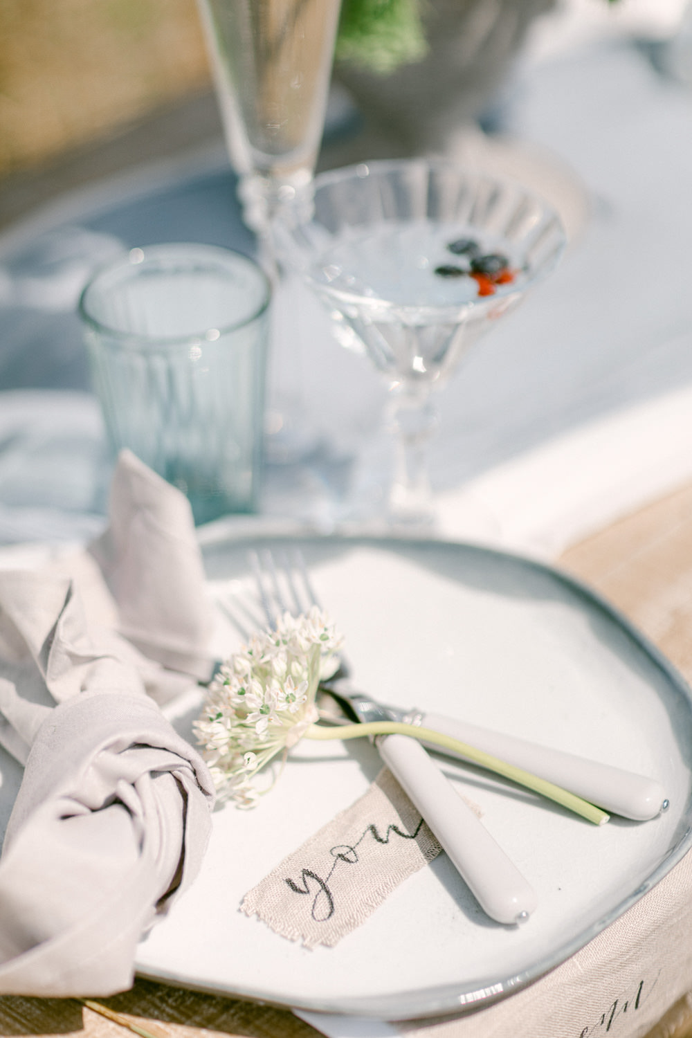 Place Setting Decor Place Name Family Elopement Ideas Sophie May Photo