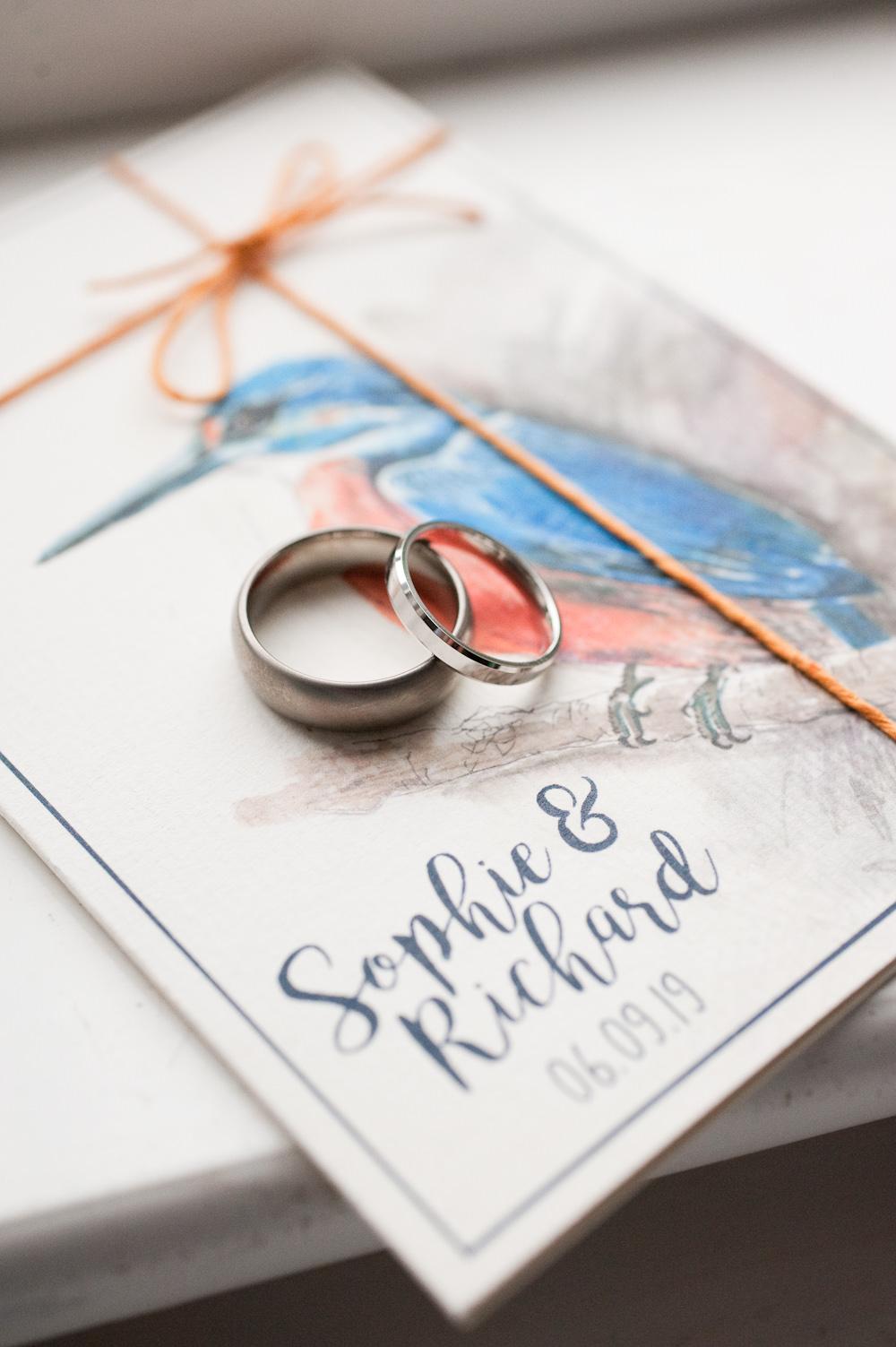 Floral Wedding Rachael Connerton Photography Bird Stationery Invite Invitation Rings
