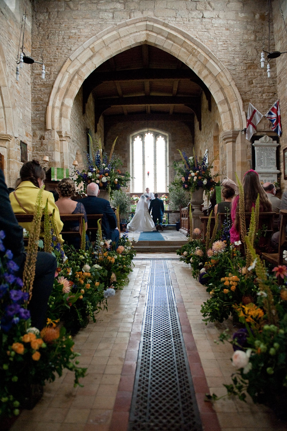 Meadow Flowers Aisle Pew End Ceremony Decor Floral Wedding Rachael Connerton Photography