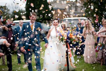 Confetti Throw Floral Wedding Rachael Connerton Photography
