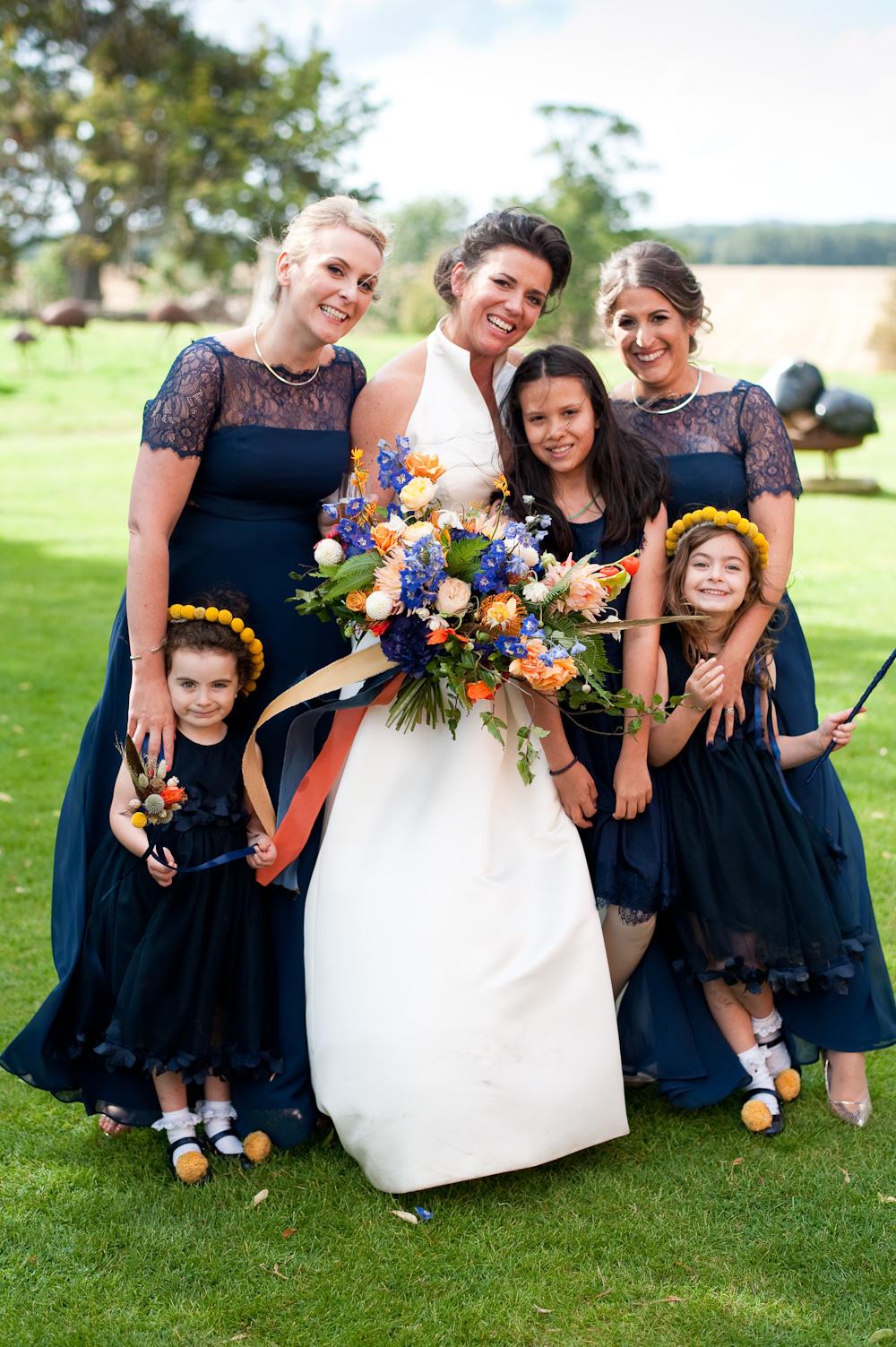 Bridesmaids Bridesmaid Dress Dresses Navy Floral Wedding Rachael Connerton Photography