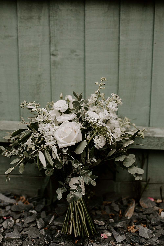 Bouquet Flowers Bride Bridal Eucalyptus Rose Glevering Hall Wedding Sharon Cudworth Photography
