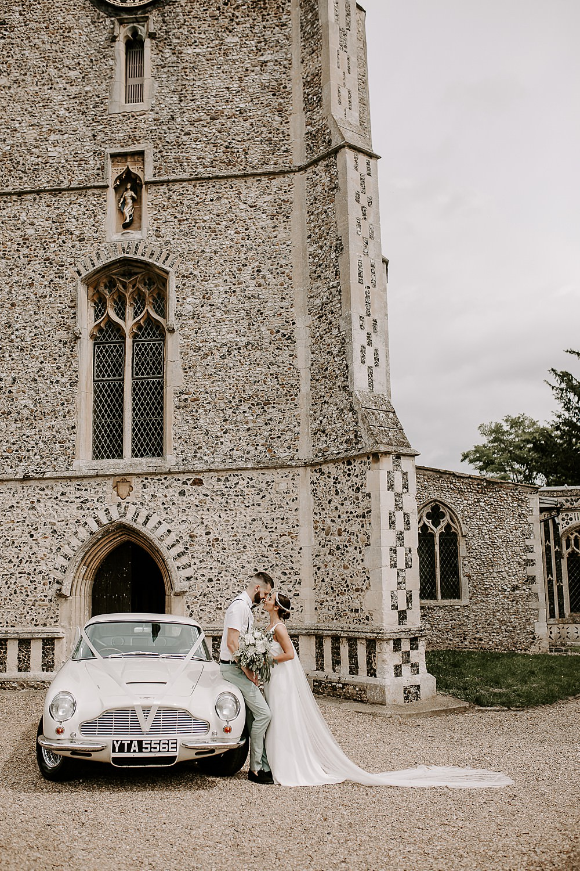 Classic Car Transport Glevering Hall Wedding Sharon Cudworth Photography