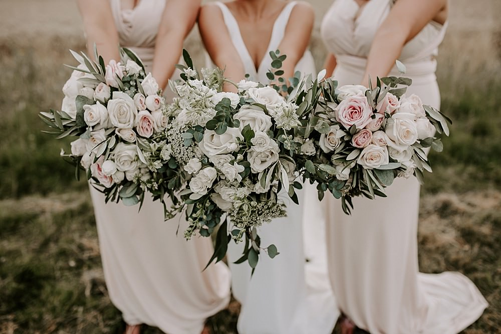 Bouquet Flowers Bride Bridal Eucalyptus Rose Bridesmaids Glevering Hall Wedding Sharon Cudworth Photography