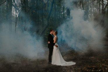 Hazel Gap Barn Wedding The Light Painters Smoke Bomb