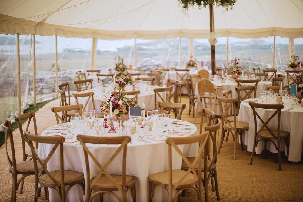 Marquee Wedding Wales Fox & Bear Photography Clear Side Open Reception
