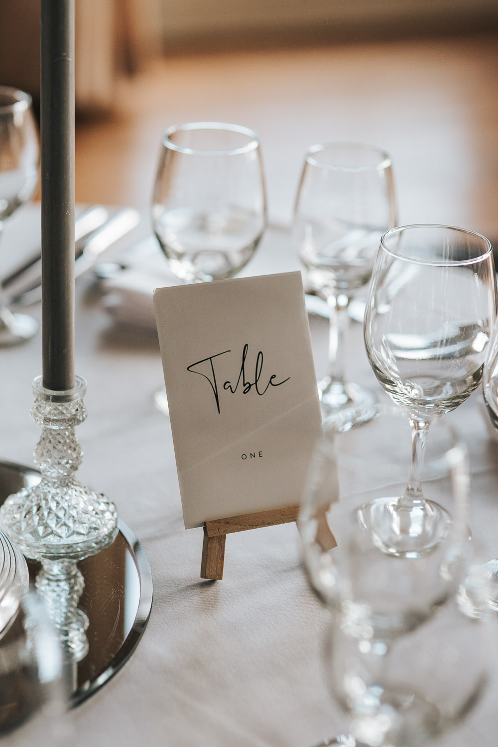 Table Name Number Prestwold Hall Wedding Pear & Bear Photography
