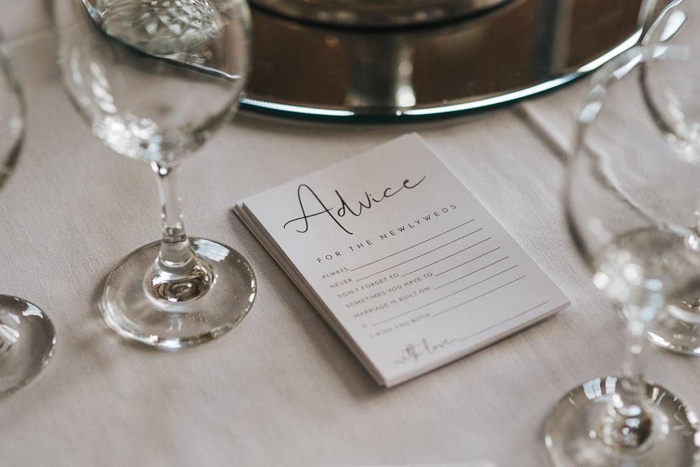 Prestwold Hall Wedding Pear & Bear Photography Advice Card Guest Book