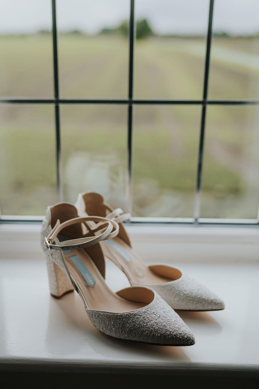 Bride Bridal Shoes The Barns East Yorkshire Wedding Bloom Weddings