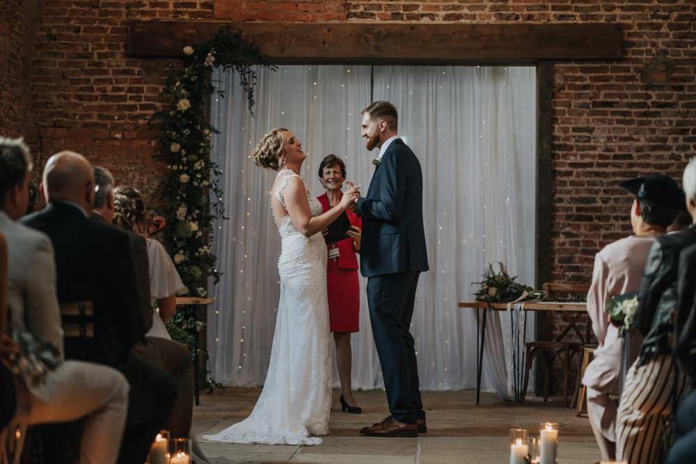 Flowerr Fabric Backdrop Ceremony The Barns East Yorkshire Wedding Bloom Weddings