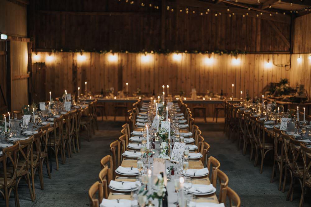 Table Decor Grey Silk Runner Candles The Barns East Yorkshire Wedding Bloom Weddings