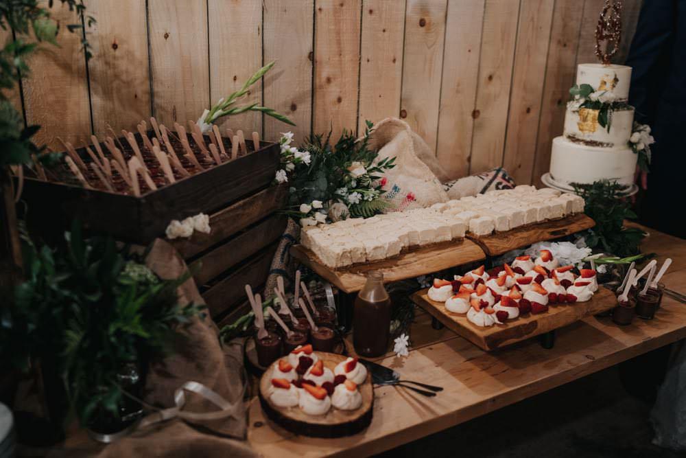 Cake Dessert Table Treats The Barns East Yorkshire Wedding Bloom Weddings