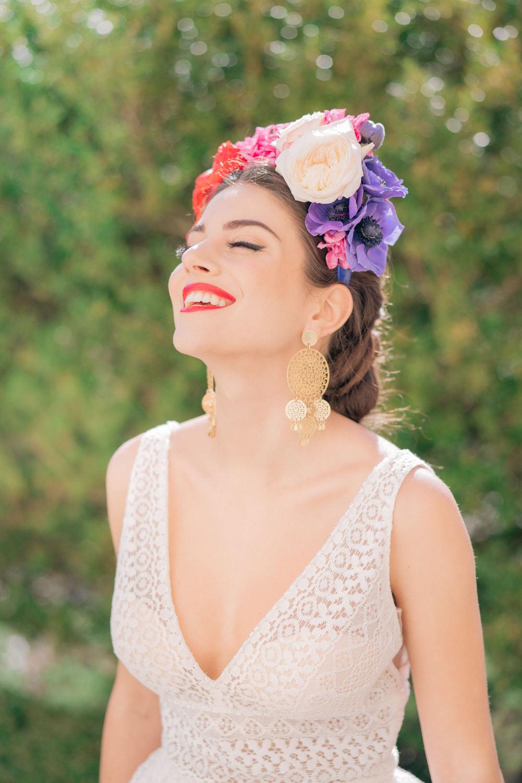 Bride Bridal Make Up Hair Flower Crown Tuscan Wedding Ideas Giuseppe Giovannelli