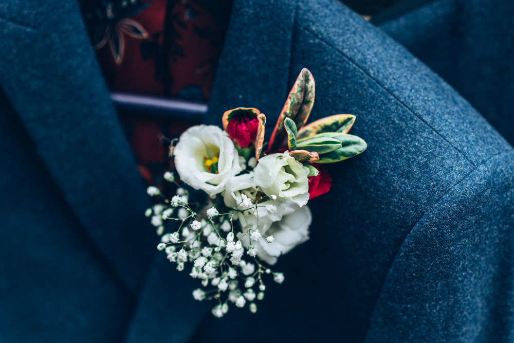 Two Part Wedding Erica Hawkins Photography Groom Buttonhole Flowers