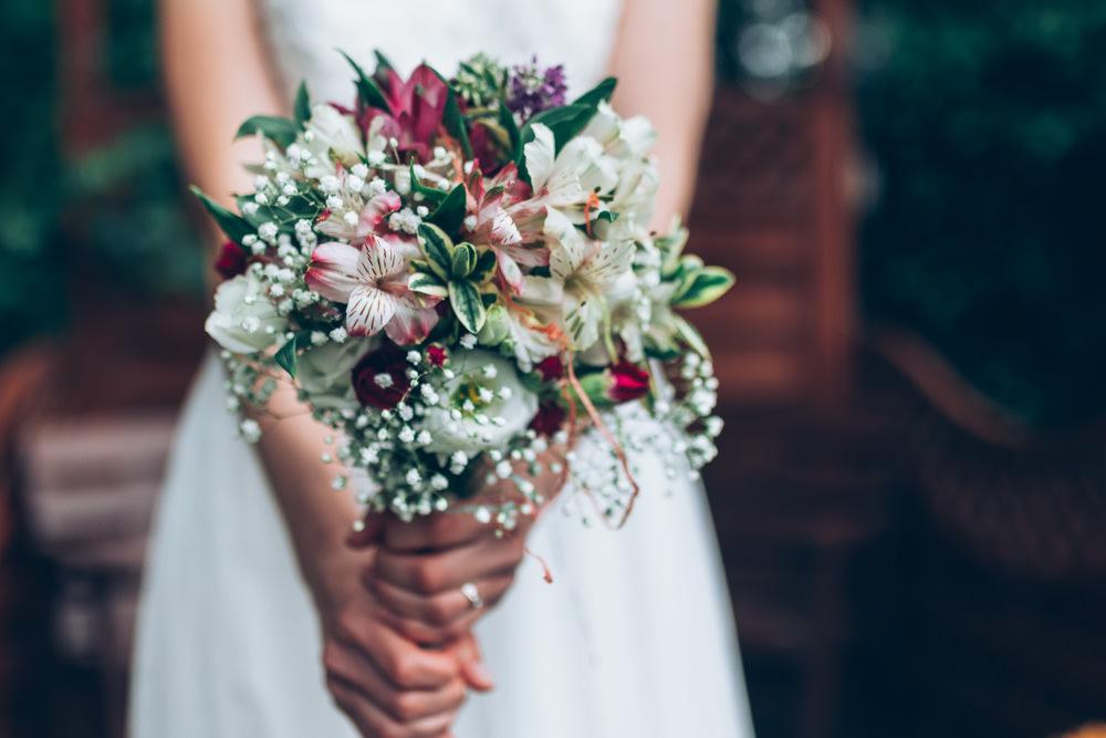 Bouquet Flowers Bride Bridal Two Part Wedding Erica Hawkins Photography