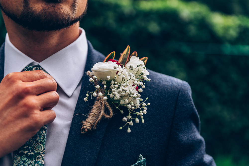 Groom Buttonhole Flowers Two Part Wedding Erica Hawkins Photography