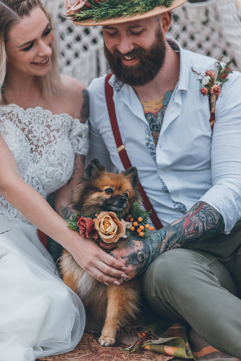 Dog Pet Beach Wedding UK Maria Madison Photographer