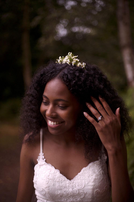 Bride Bridal Hair Make Up Tiara Crown Cuffley Camp Wedding Heather Winstanley Photography