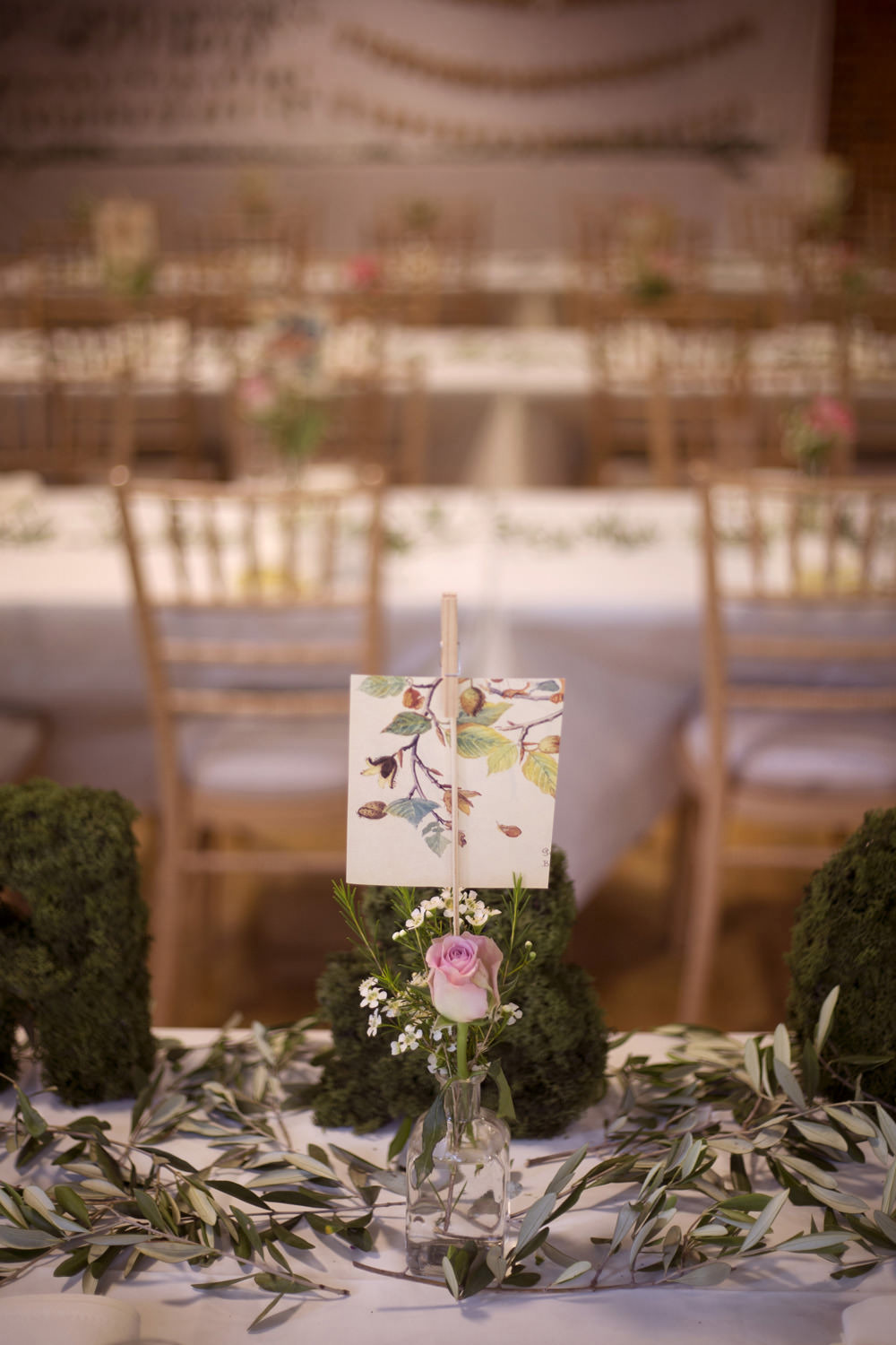 Table Name Illustrated Cuffley Camp Wedding Heather Winstanley Photography