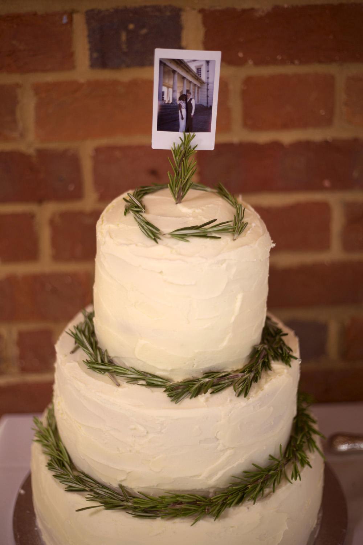 Buttercream Cake Foliage Greenery Cuffley Camp Wedding Heather Winstanley Photography