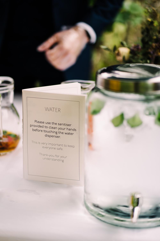 Hand Sanitiser Garden Wedding Reception Jade Touron Photography