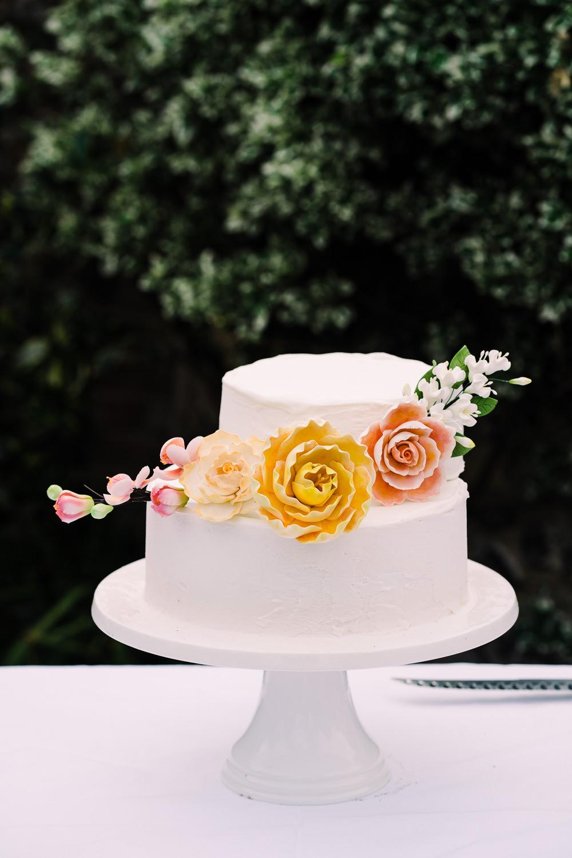 Iced Cake Flowers Floral Garden Wedding Reception Jade Touron Photography