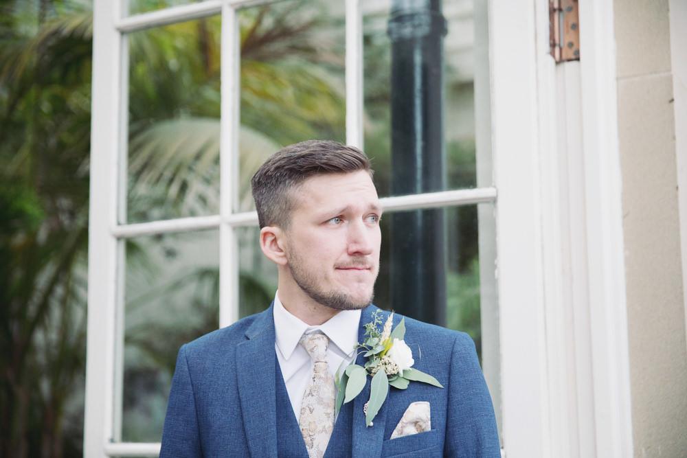 Groom Groomsmen Navy Suits Hide Sheffield Wedding Sasha Lee Photography