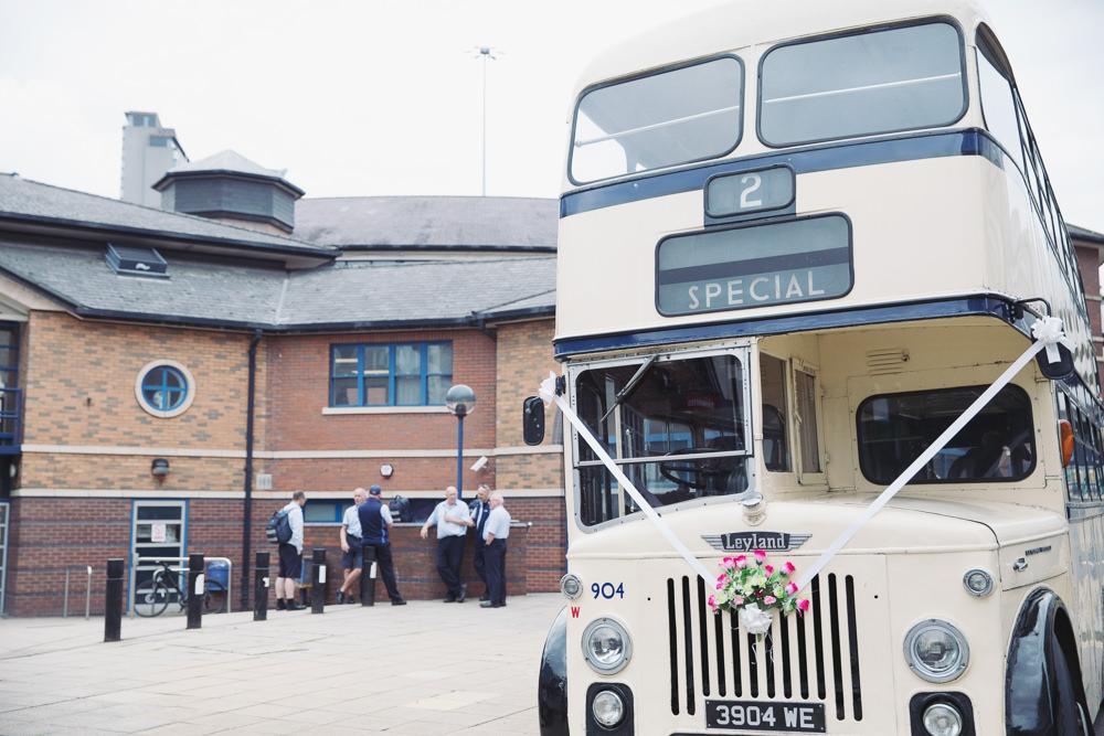 Double Decker Bus Transport Hide Sheffield Wedding Sasha Lee Photography