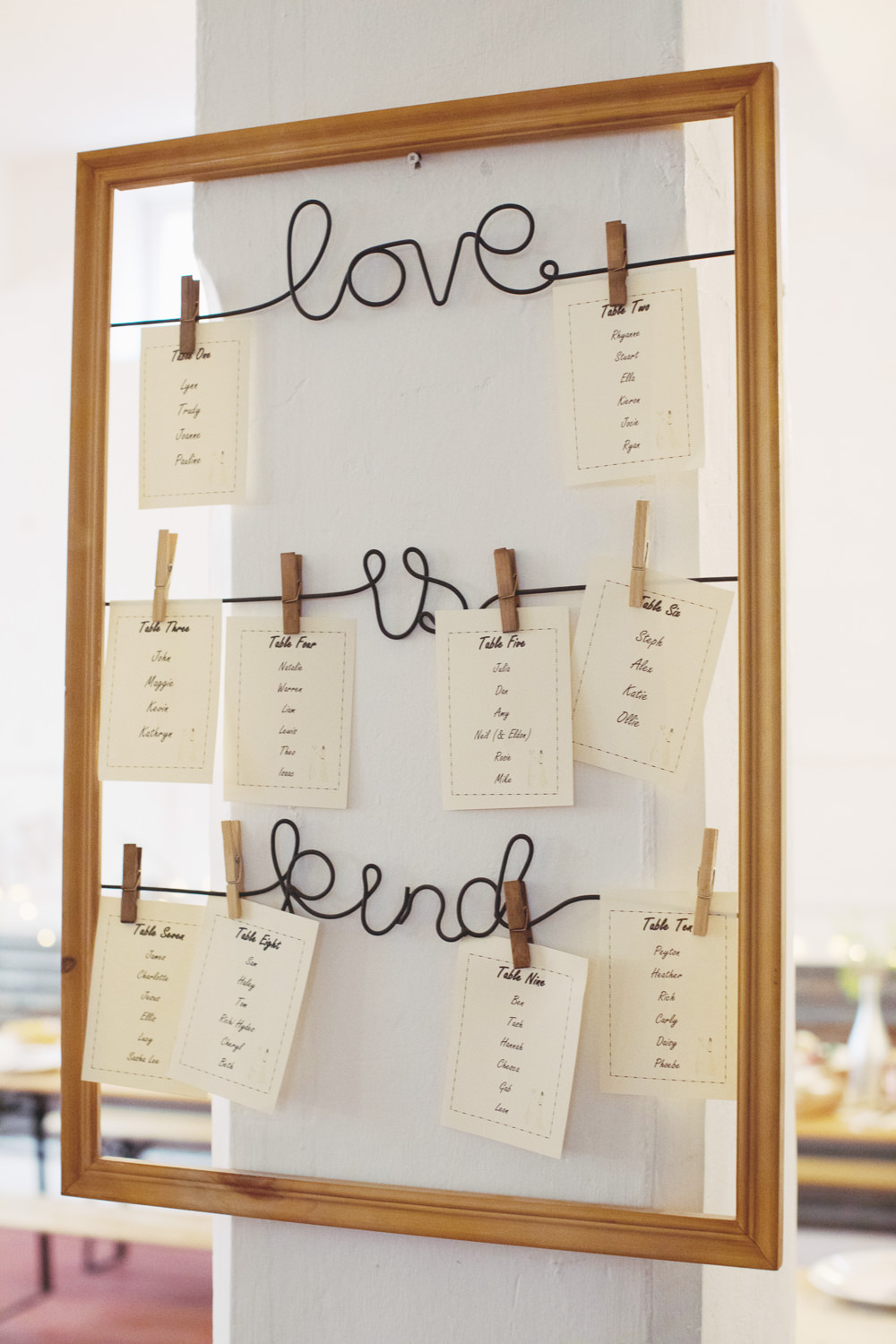 Table Plan Seating Chart Wire Words Hide Sheffield Wedding Sasha Lee Photography