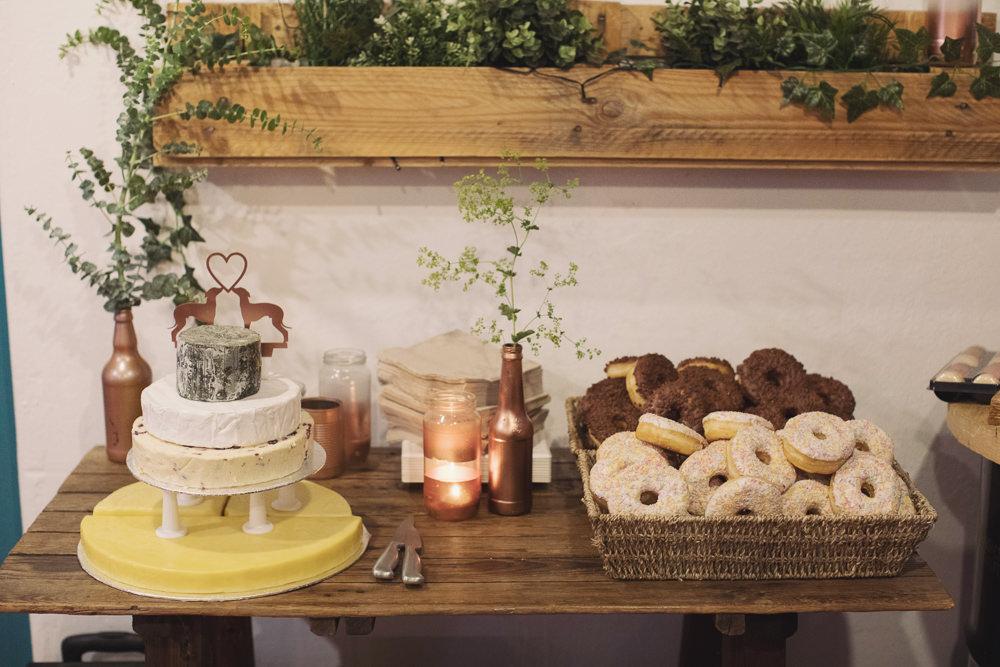 Dessert Cake Table Hide Sheffield Wedding Sasha Lee Photography