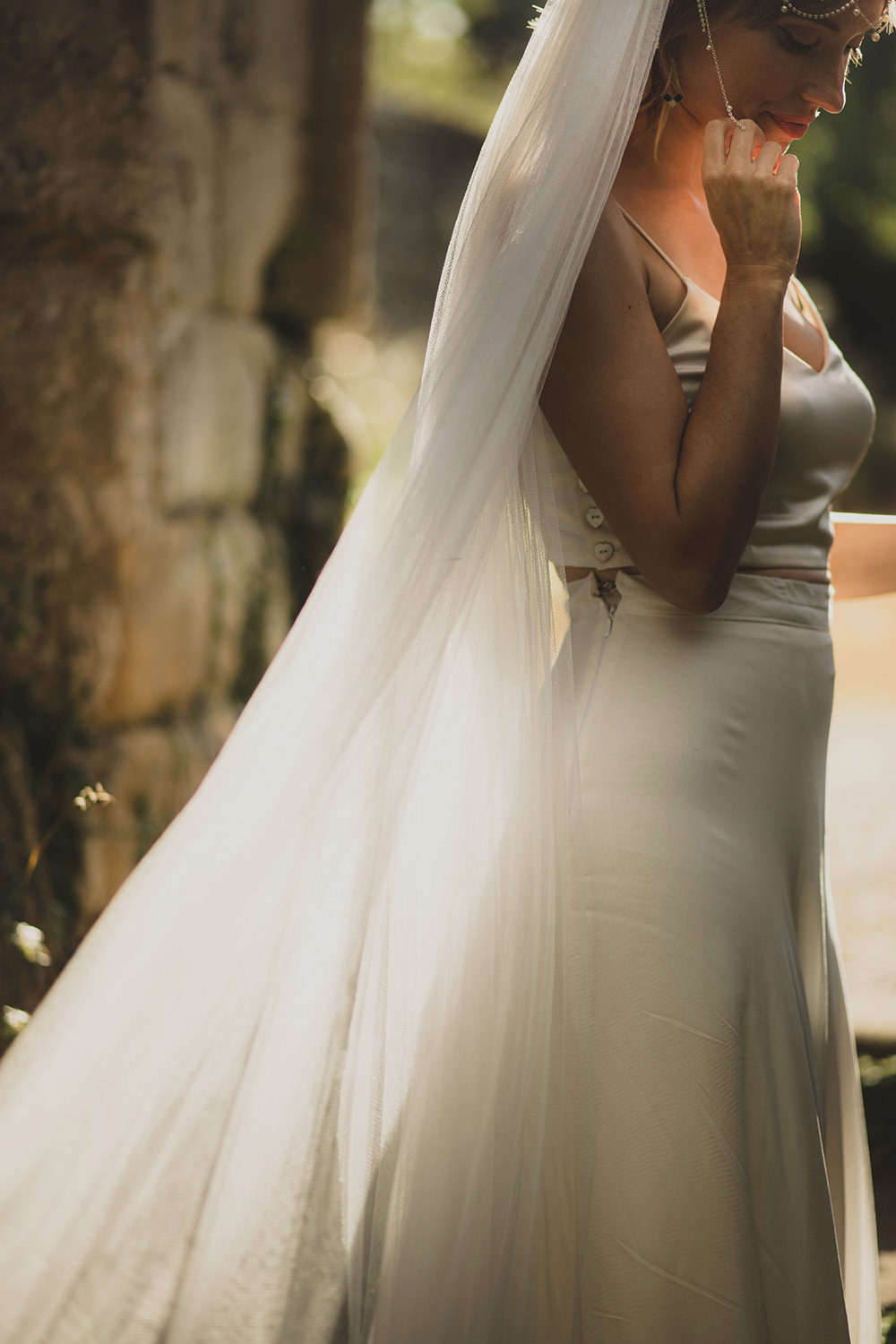 Jervaulx Abbey Wedding Ideas Laura Adams Photography Dress Gown Bride Bridal Top Skirt Separates Luna Bride