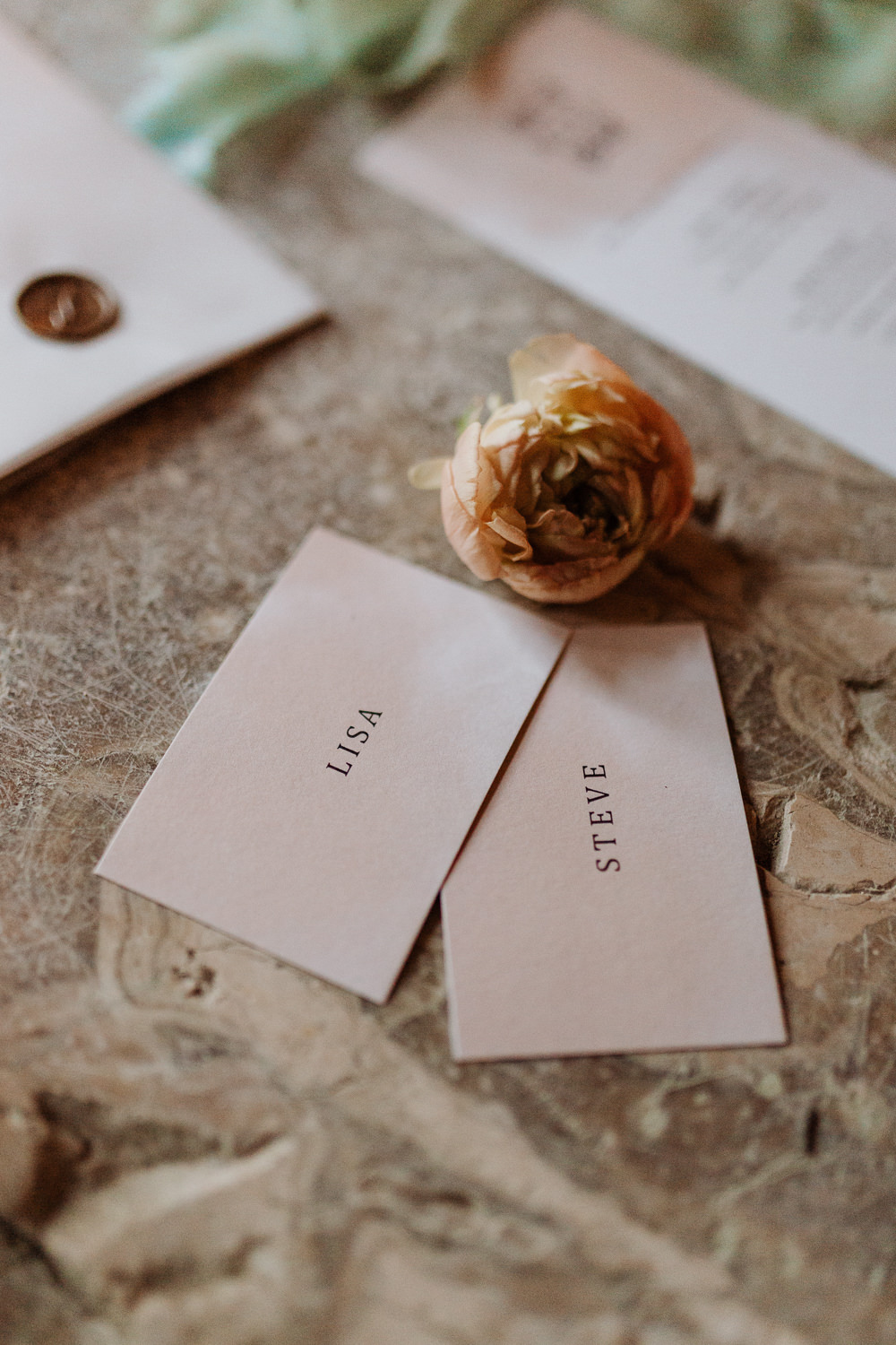 Place Name Cards Natural Wedding Ideas Frame Of Love