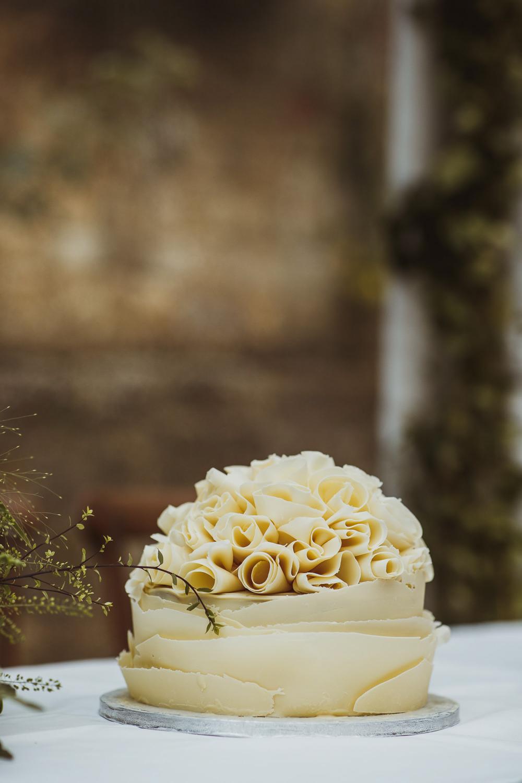 Ruffle Chocolate Cake Newburgh Priory Wedding Neil Jackson Photographic