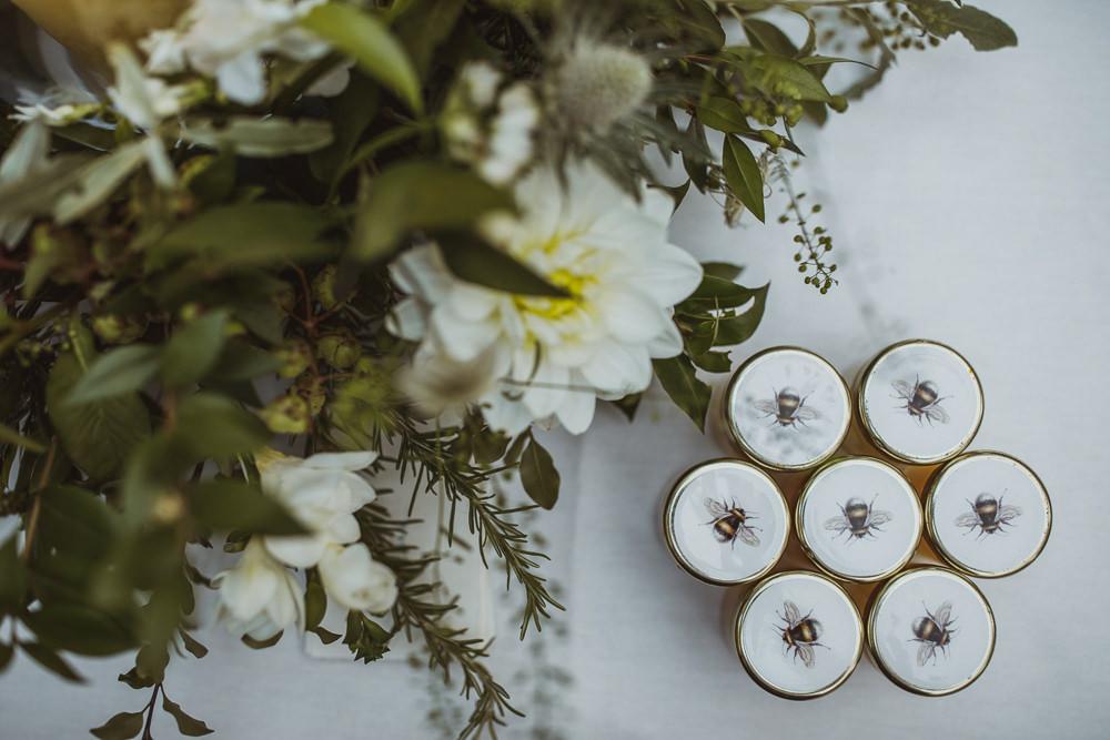 Honey Favours Jars Newburgh Priory Wedding Neil Jackson Photographic