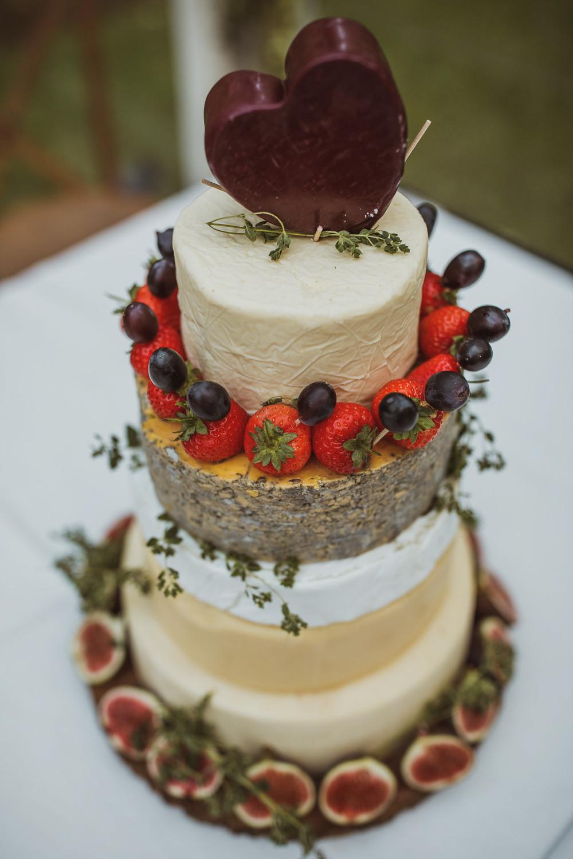 Cheese Tower Stack Cake Fruit Newburgh Priory Wedding Neil Jackson Photographic