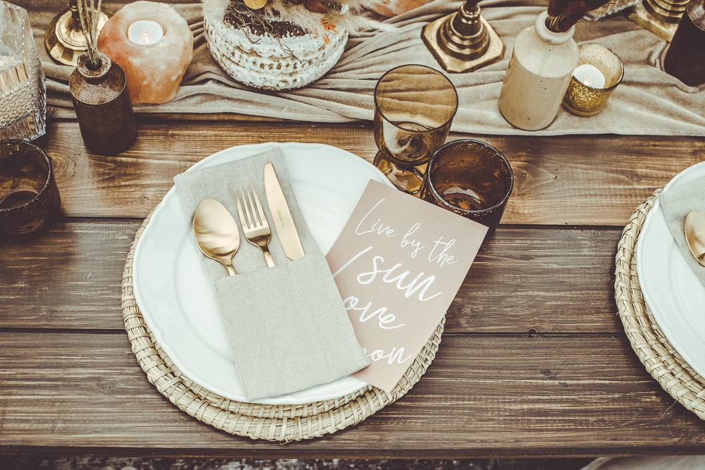 Rust Wedding Inspiration Golden Hare Wedding Photography Place Setting Decor Cutlery
