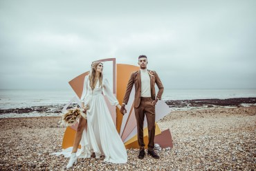 Rust Wedding Inspiration with Retro 1970s Vibes
