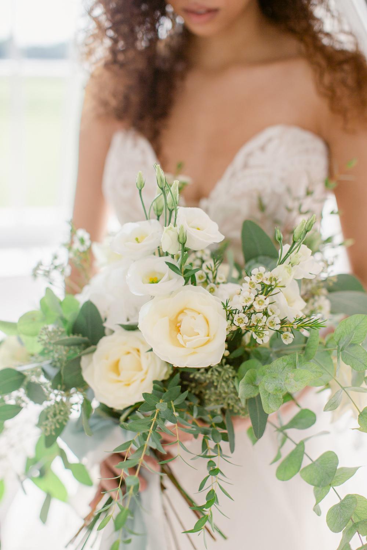 Bouquet Flowers Bride Bridal Eucalyptus Foliage Greenery Stately Home Wedding Whitney Lloyd Photography