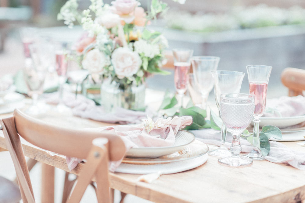 UK Destination Wedding Hannah McClune Photography Table Tablescape Decor Pink Pastel Pretty Candles Flowers