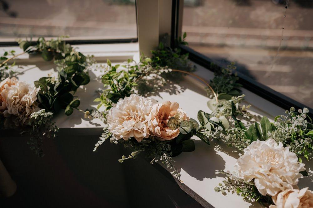 Brighton Town Hall Wedding Bloom Weddings Wreath Hoop Bouquet Flowers Bride Bridal